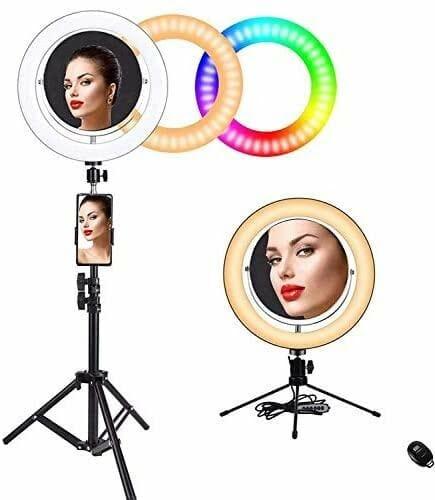 "Baufut 10"" RGB Ring Light Mirror"