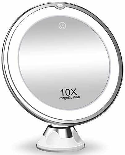 KOOLORBS Makeup Mirror with Lights, 10X Magnifying
