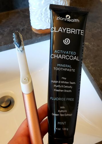Zion Health Clay Brite Activated Charcoal Mineral Toothpaste How To