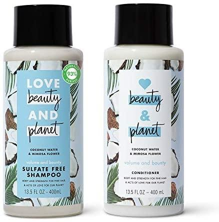 Beauty and Planet Volume and Bounty Shampoo and Conditioner