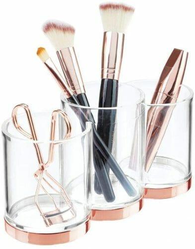 mDesign Plastic Makeup Organizer