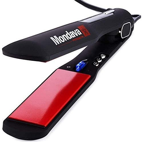 MONDAVA Professional Ceramic Tourmaline Hair Straightener Flat Iron and Curler
