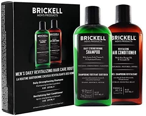 Brickell Men's Daily Hair Care- Shampoo and Conditioner Set